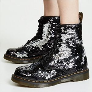 Like New Dr. Martens 1460 Pascal Sequined Boots 9